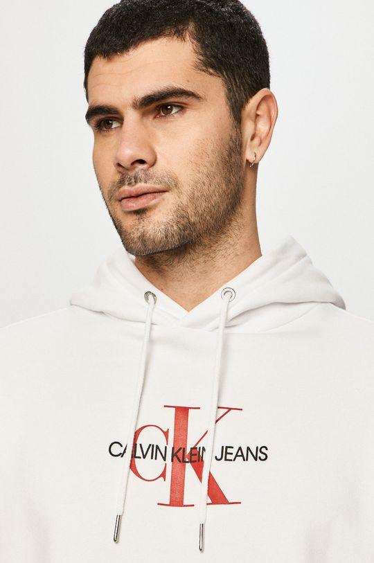 biały Calvin Klein Jeans - Bluza bawełniana
