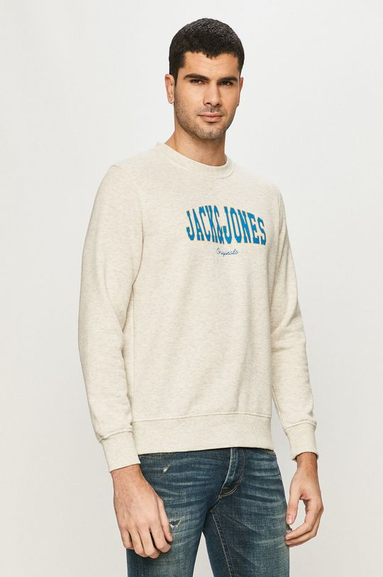 kremowy Jack & Jones - Bluza Męski