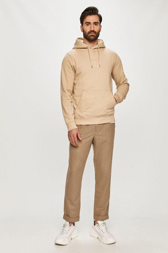 Calvin Klein Jeans - Памучен суичър бежов