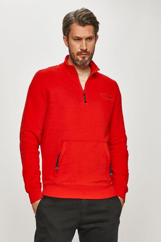 červená Tommy Jeans - Bavlněná mikina Pánský