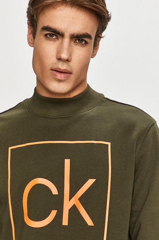 zelená Calvin Klein - Bavlnená mikina