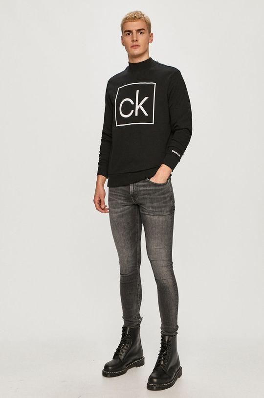 Calvin Klein - Hanorac de bumbac negru