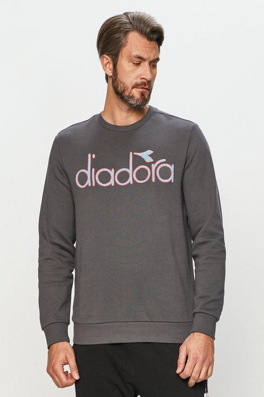 grafitová Diadora - Bavlněná mikina Unisex