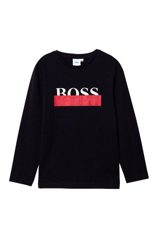 negru Boss - Longsleeve copii 116-152 cm De băieți