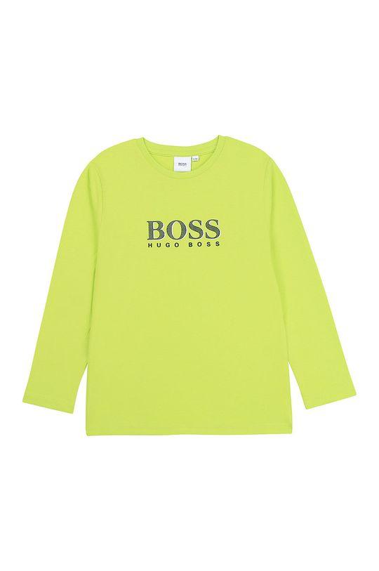 жовто-зелений Boss - Дитячий лонгслів 116-152 cm Для хлопчиків