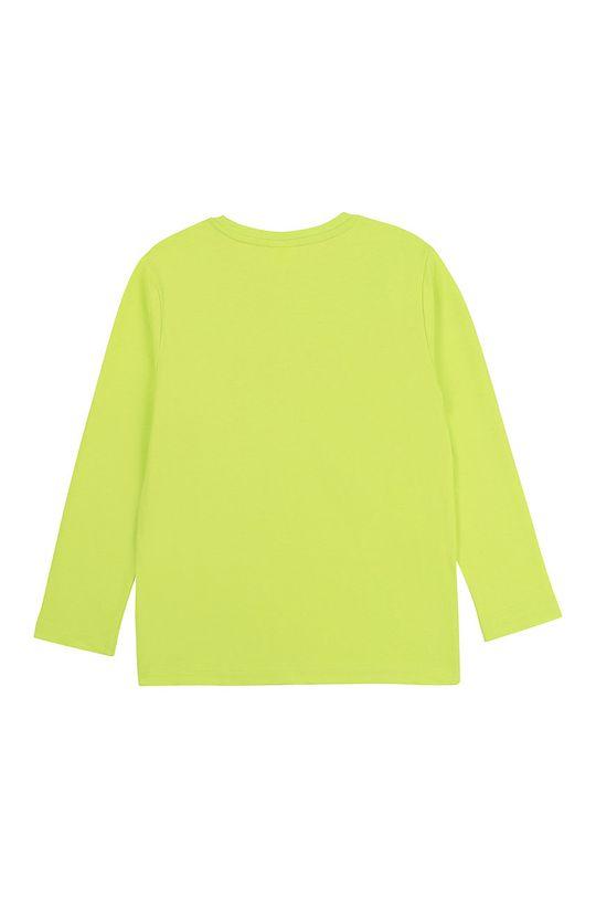 Boss - Дитячий лонгслів 116-152 cm жовто-зелений