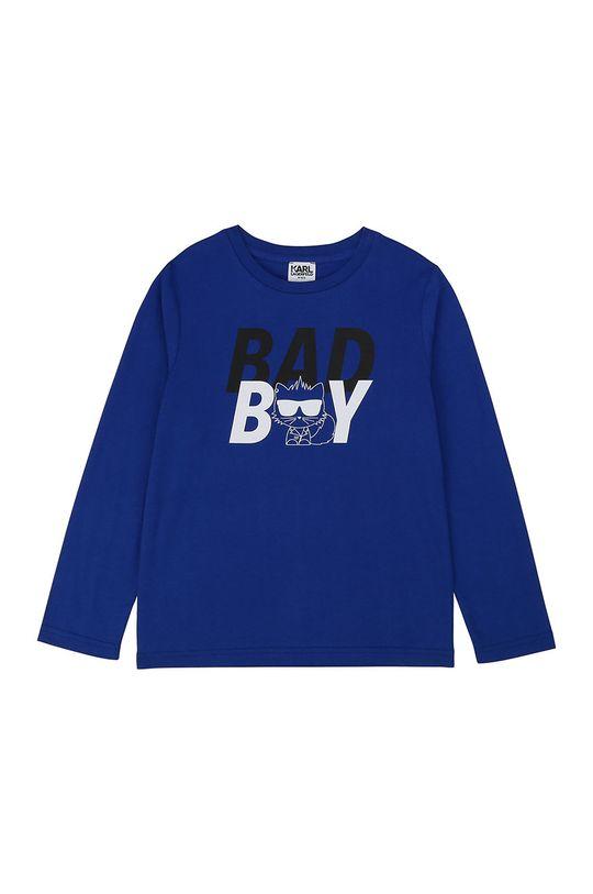 niebieski Karl Lagerfeld - Longsleeve dziecięcy Chłopięcy