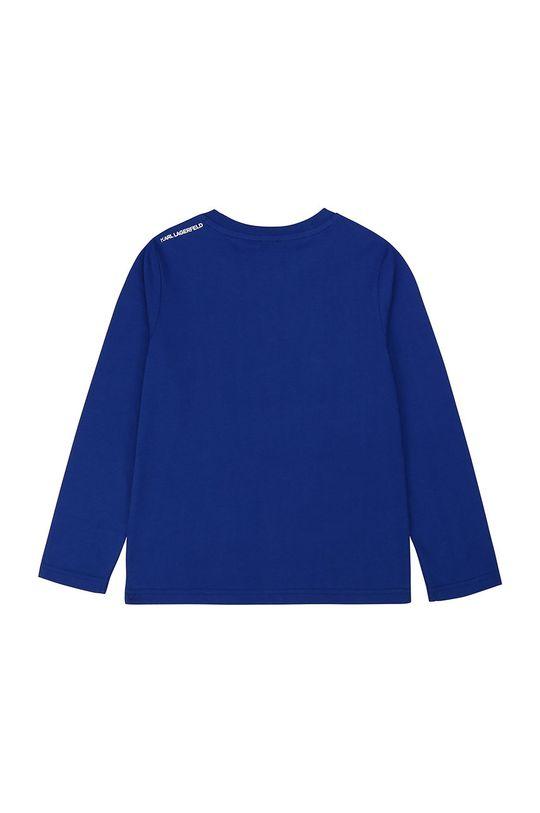 Karl Lagerfeld - Longsleeve dziecięcy niebieski