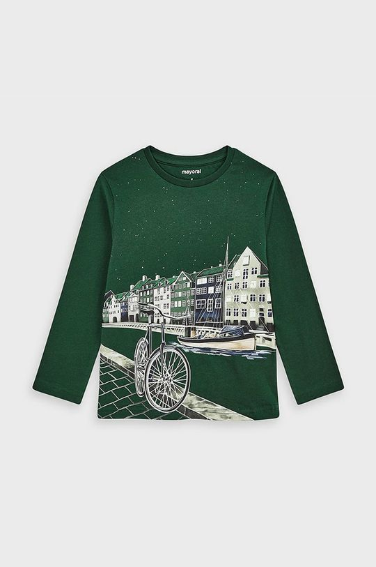 verde inchis Mayoral - Longsleeve copii 92-134 cm De băieți