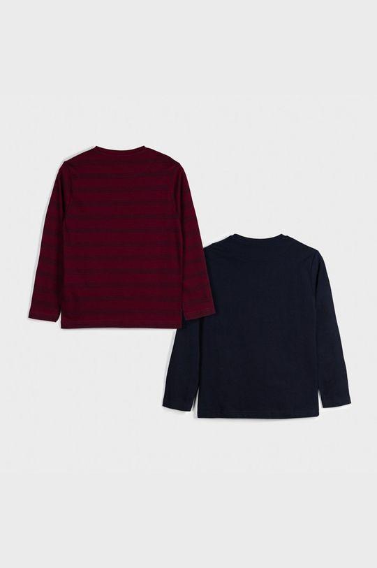 Mayoral - Detské tričko s dlhým rukávom 128-172 cm (2-pak) gaštanová
