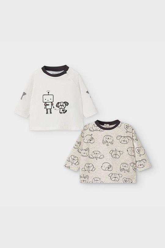 tmavomodrá Mayoral Newborn - Detské tričko s dlhým rukávom 60-86 cm (2-pak) Chlapčenský