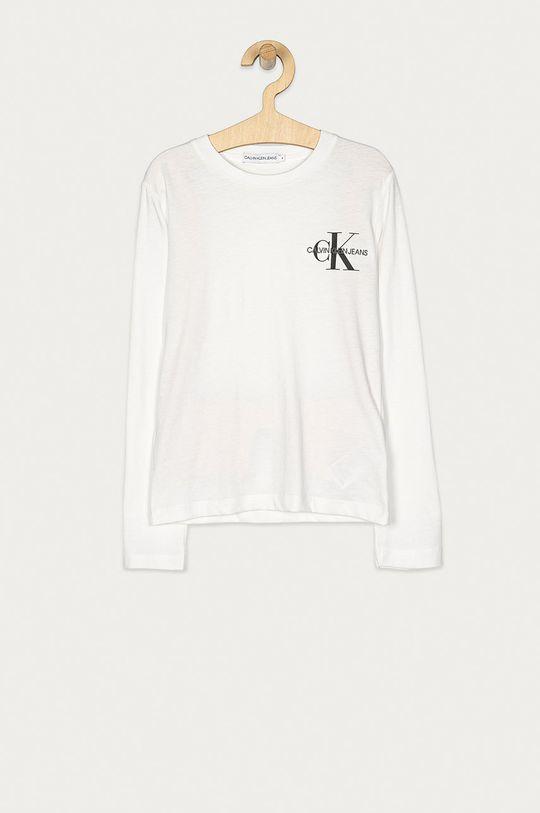 biały Calvin Klein Jeans - Longsleeve dziecięcy 128-176 cm Chłopięcy