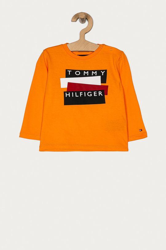 pomarańczowy Tommy Hilfiger - Longsleeve dziecięcy 74-176 cm Chłopięcy
