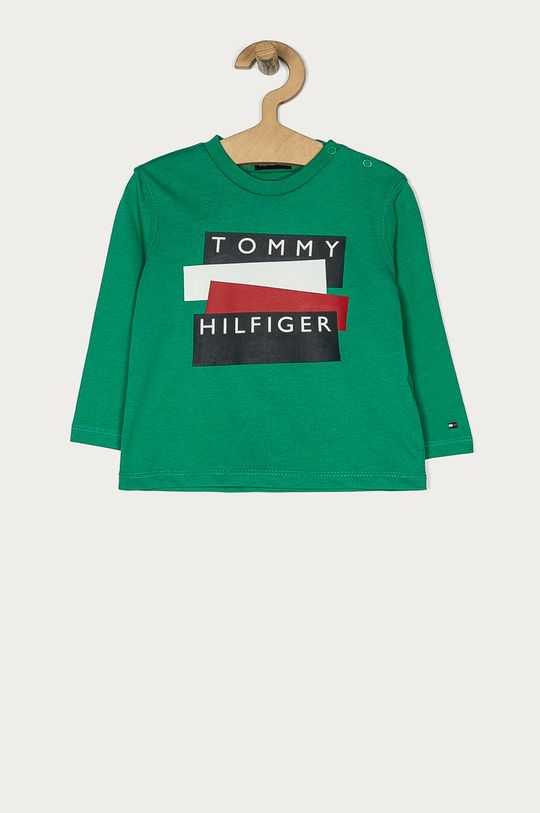 verde ascutit Tommy Hilfiger - Longsleeve copii 74-176 cm De băieți