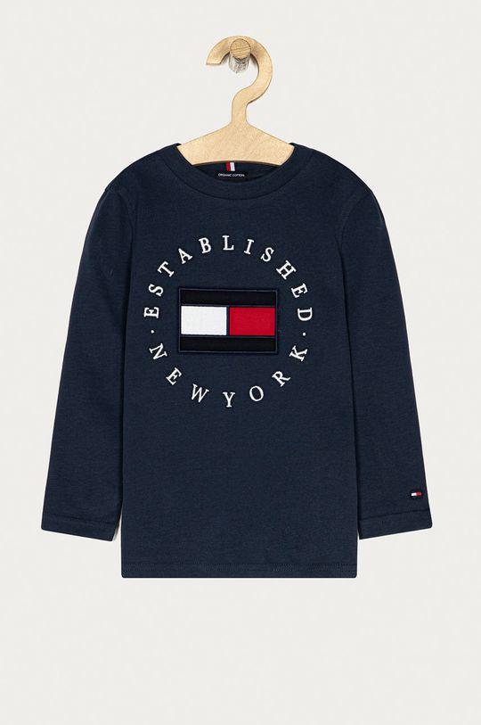 tmavomodrá Tommy Hilfiger - Detské tričko s dlhým rukávom 104-176 cm Chlapčenský