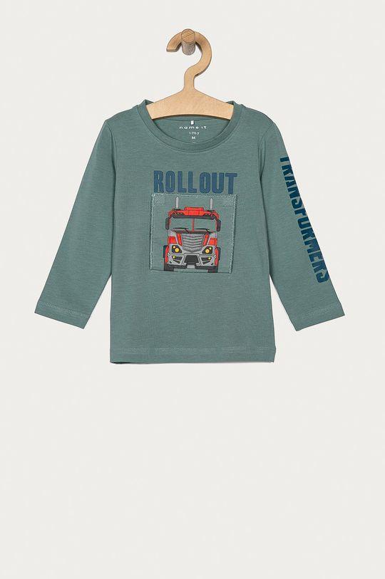tyrkysová Name it - Detské tričko s dlhým rukávom 86-110 cm Chlapčenský