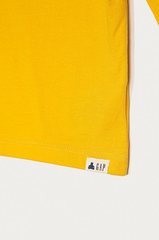 GAP - Longsleeve copii 74-110 cm galben deschis