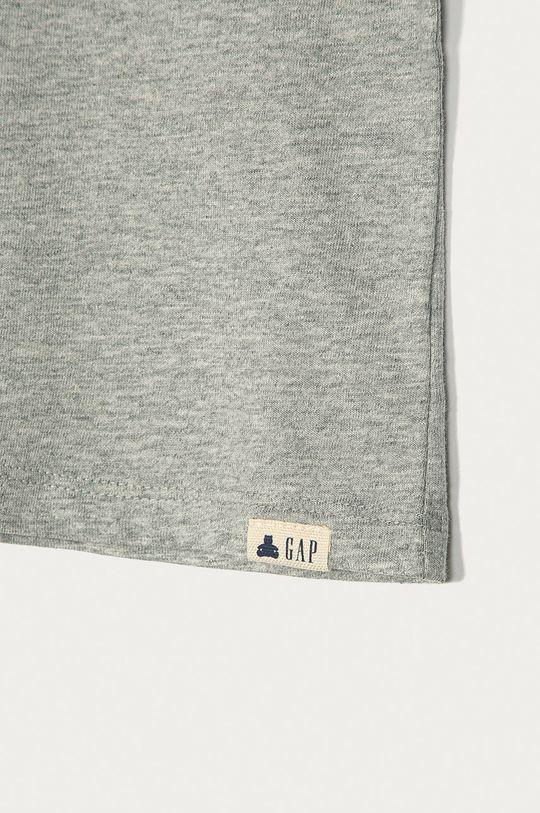 GAP - Detské tričko s dlhým rukávom 74-110 cm sivá