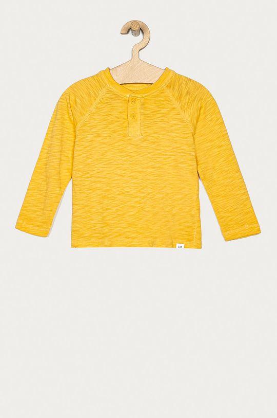jantárová GAP - Detské tričko s dlhým rukávom 74-110 cm Chlapčenský