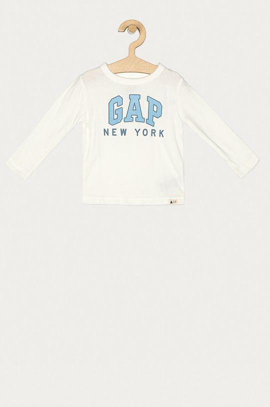 biela GAP - Detské tričko s dlhým rukávom 74-110 cm Chlapčenský