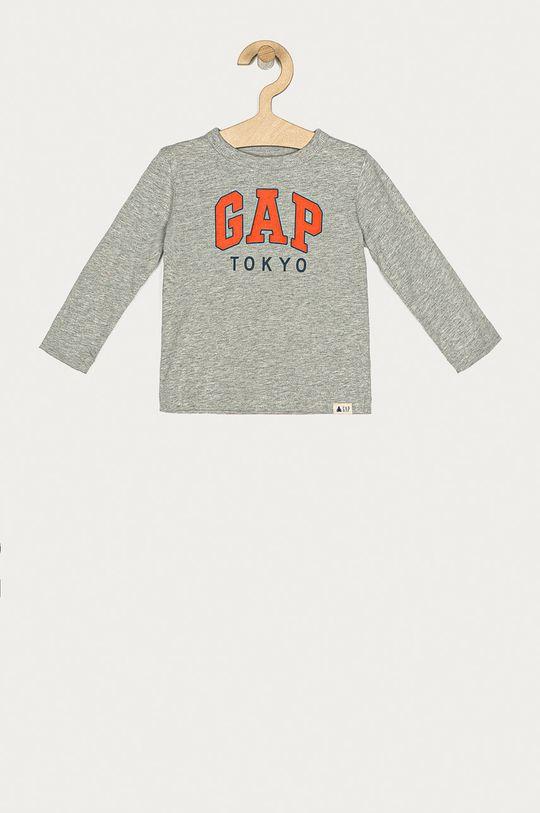 svetlosivá GAP - Detské tričko s dlhým rukávom 74-110 cm Chlapčenský