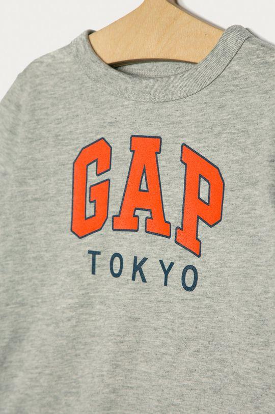 GAP - Detské tričko s dlhým rukávom 74-110 cm svetlosivá