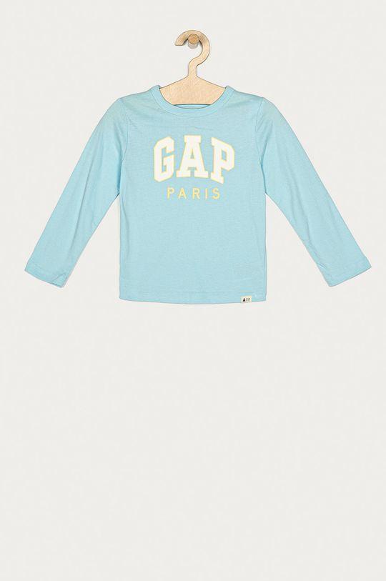 svetlomodrá GAP - Detské tričko s dlhým rukávom 74-110 cm Chlapčenský