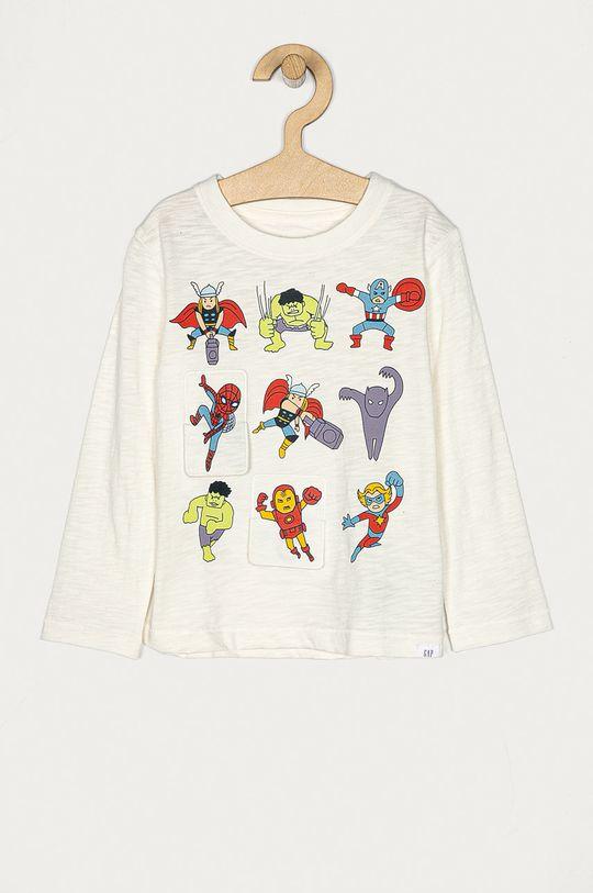 biały GAP - Longsleeve dziecięcy x Marvel 74-110 cm Chłopięcy