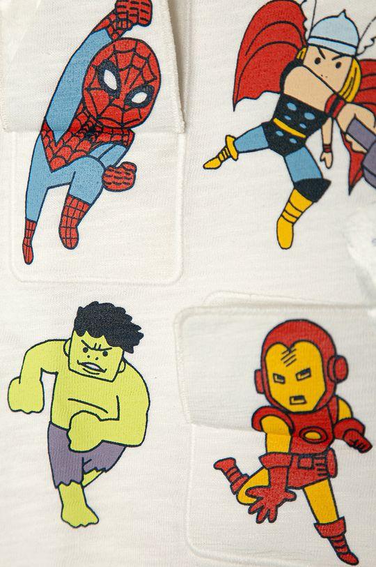 GAP - Longsleeve dziecięcy x Marvel 74-110 cm biały