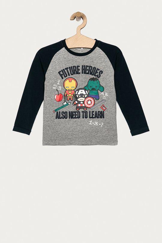 sivá Name it - Detské tričko s dlhým rukávom 92-128 cm Chlapčenský
