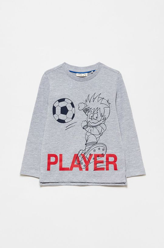 purpurová OVS - Dětské tričko s dlouhým rukávem Chlapecký