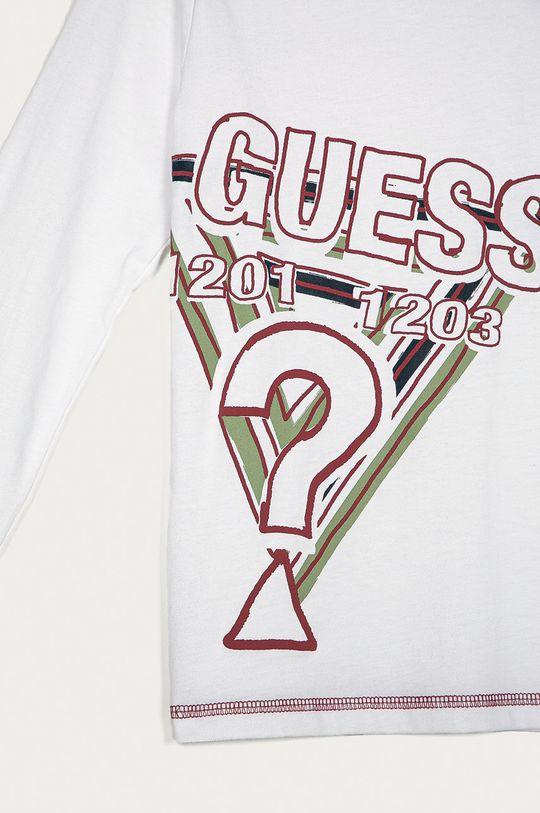 Guess - Дитячий лонгслів білий