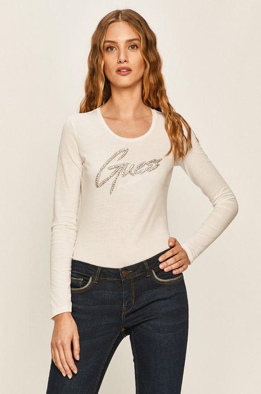 alb Guess Jeans - Longsleeve De femei