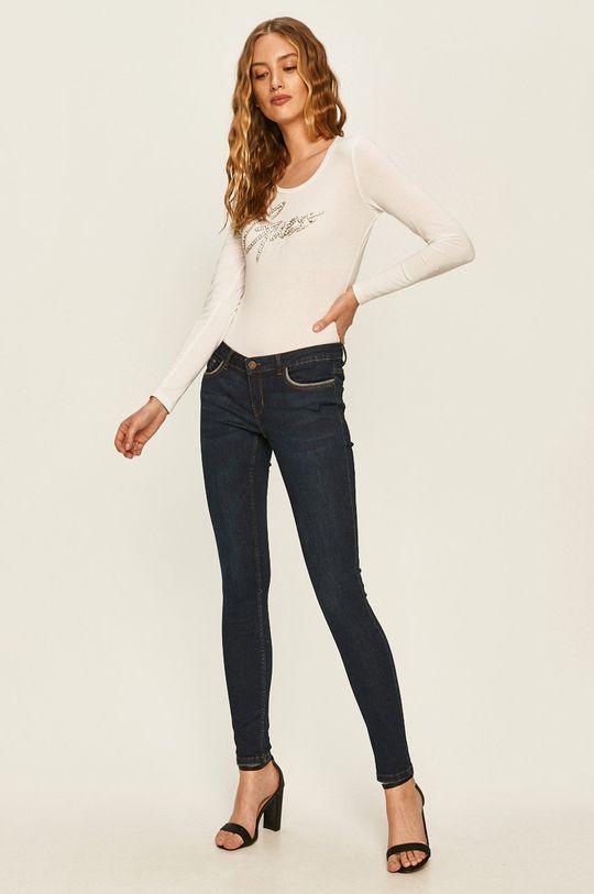 Guess Jeans - Tričko s dlouhým rukávem bílá