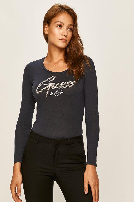 námořnická modř Guess Jeans - Tričko s dlouhým rukávem Dámský