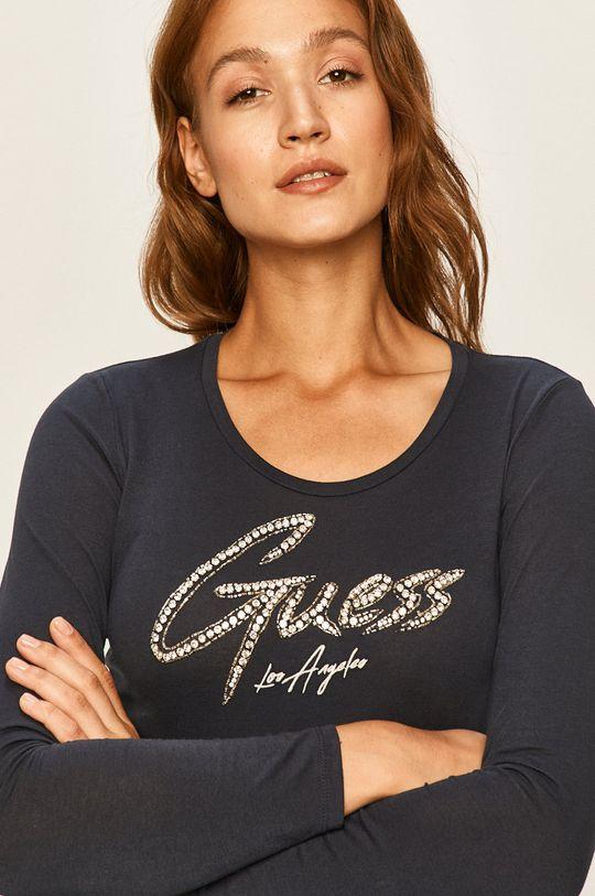 námořnická modř Guess Jeans - Tričko s dlouhým rukávem