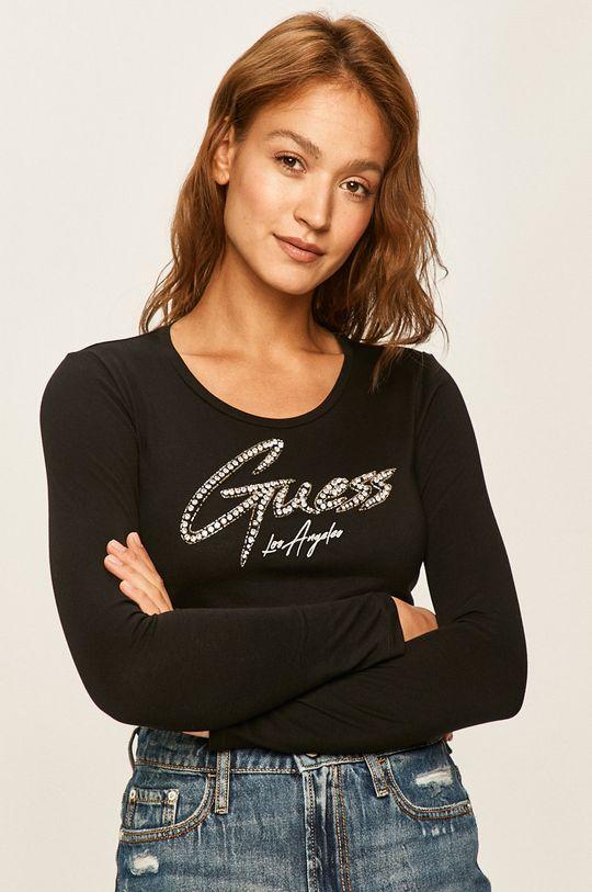 černá Guess Jeans - Tričko s dlouhým rukávem Dámský