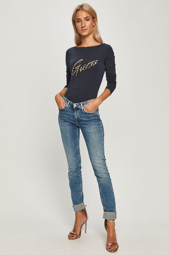 Guess Jeans - Longsleeve bleumarin