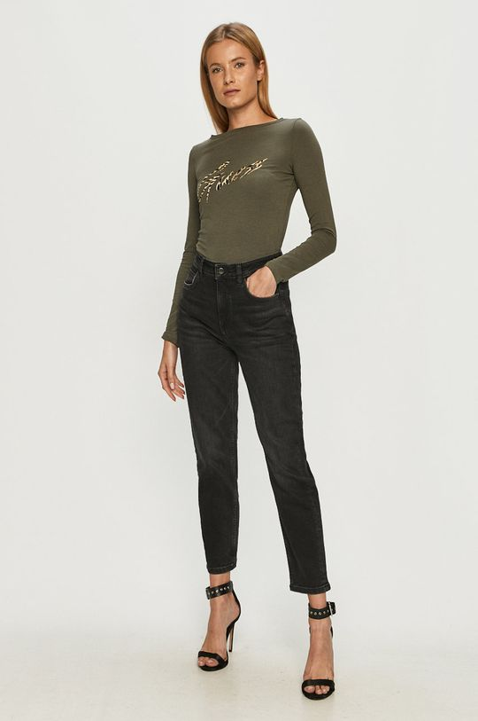 Guess Jeans - Longsleeve verde inchis