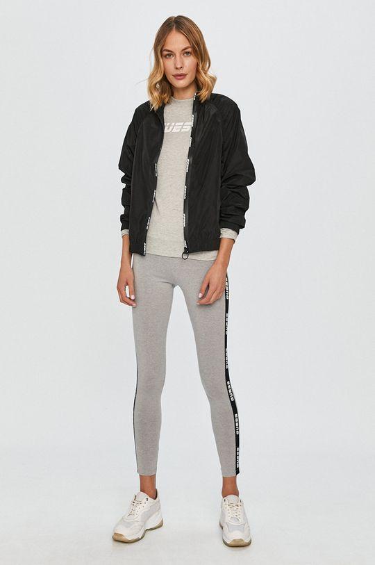 Guess Jeans - Longsleeve gri deschis