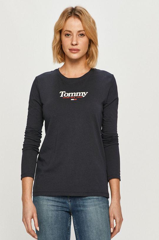 námořnická modř Tommy Jeans - Tričko s dlouhým rukávem Dámský