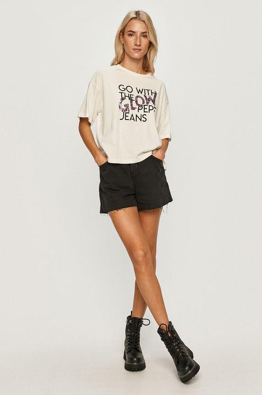 Pepe Jeans - Tricou Adina alb