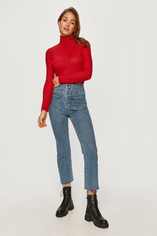 Pepe Jeans - Tričko s dlouhým rukávem Deborah ostrá červená
