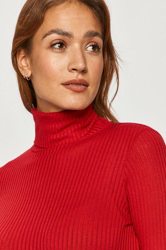ostrá červená Pepe Jeans - Tričko s dlouhým rukávem Deborah