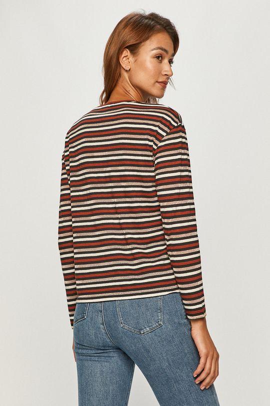 Pepe Jeans - Tričko s dlouhým rukávem Lexi  35% Bavlna, 55% Len, 7% Polyester, 3% Kovové vlákno