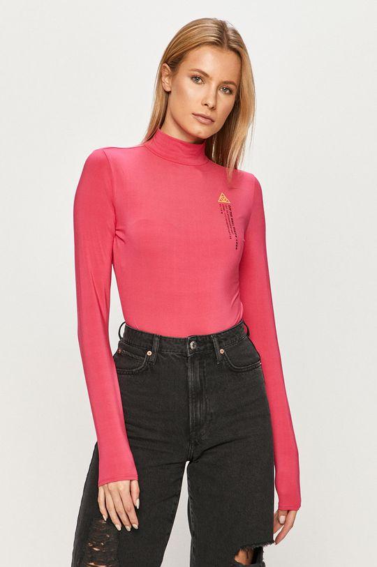 ružová Vans - Tričko s dlhým rukávom Dámsky
