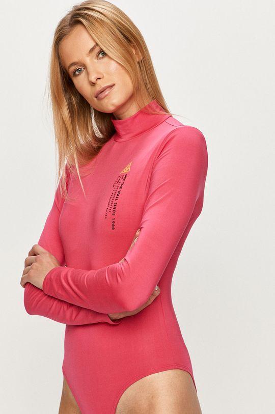 ružová Vans - Tričko s dlhým rukávom