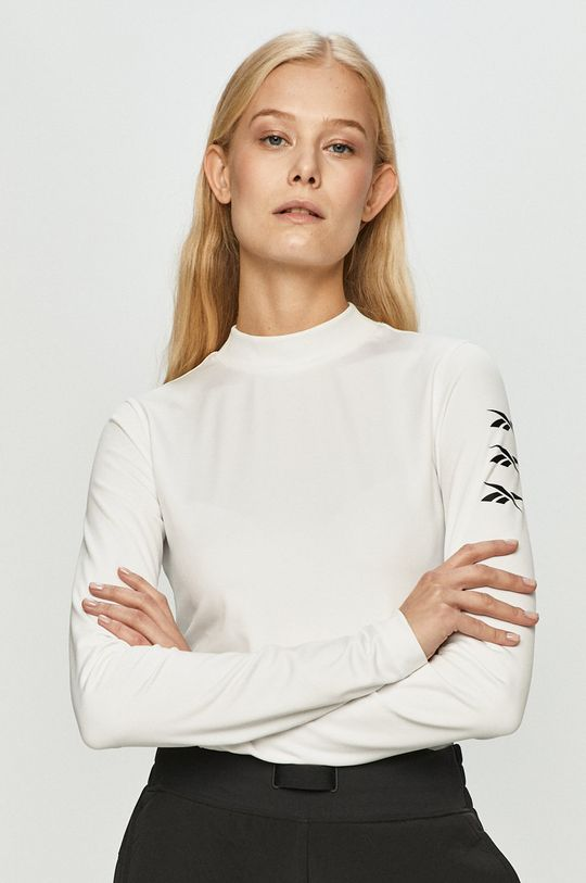bílá Reebok - Tričko s dlouhým rukávem Dámský