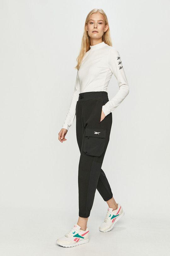 Reebok - Tričko s dlouhým rukávem bílá