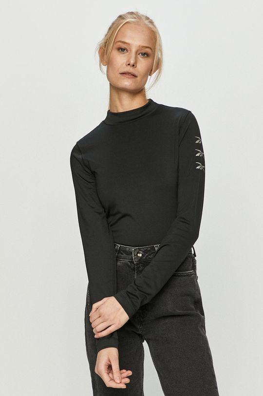 čierna Reebok - Tričko s dlhým rukávom Dámsky
